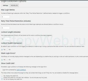 Как настроить плагин Login Lock down на сайте вордпресс